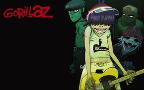 Picture style, guitar, Murdoch, gorillaz