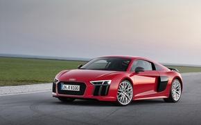 Picture red, Audi, Audi, V10, 2015