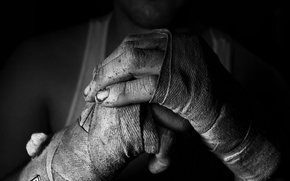 Wallpaper hands, black and white, fighter