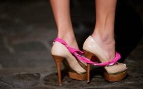 Picture feet, panties, shoes, underwear