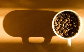 Picture light, coffee, shadow, Cup, grain, coffee