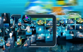 Picture technology, hi-tech, business, graphics
