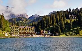 Picture nature, lake, Italy, Italy, nature, mountains, lake, Italia, The Dolomites, Misurina, Auronzo di Cadore, Grand …