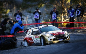 Wallpaper Sport, Machine, People, Turn, Citroen, Citroen, DS3, WRC, Rally, Rally