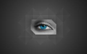 Picture eyes, polygon, low, eye, poly