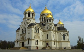 Picture temple, Russia, Novocherkassk, the area of the Yermak, Ascension Cathedral