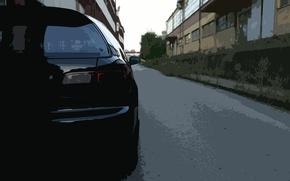 Picture car, light, honda, black, civic, tail, rear, gen, cutout, filter, fifth
