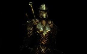 Picture girl, rendering, background, armor, warrior, helmet