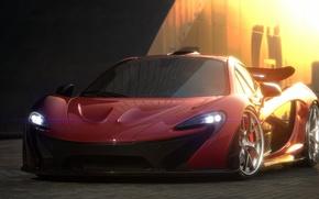Picture supercar, render, McLaren, mclaren p1, hypercar