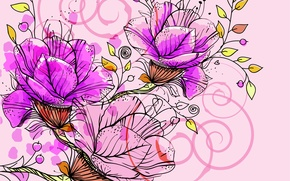 Wallpaper flowers, abstraction, petals