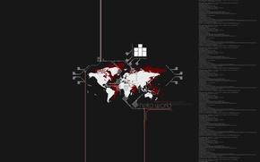 Wallpaper map, Minimalism, code