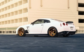 Picture Car, Power, Ligth, Sport, White, Nissan, Rear, GT-R, R35