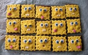 Wallpaper sponge Bob, Smile, sponge, Bob