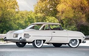 Picture white, trees, Italy, sedan, classic, 1954, Italia, beautiful car, Hudson, Hudson