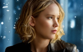Picture Girl, Beautiful, Winter, Green, Snow, Street, Female, Eyes, Blonde, Woman, Year, Brave, Jennifer Lawrence, 20th …