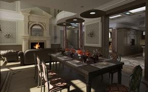Picture design, style, interior, living space, Dom-castle