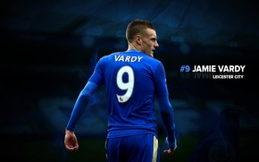Picture wallpaper, sport, football, player, Leicester City, King Power Stadium, Jamie Vardy
