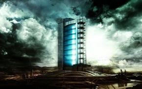 Picture city, future, sci-fi, building
