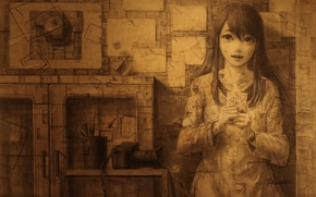 Picture girl, anime, art, panache
