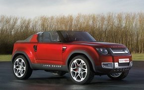Picture auto, Concept, red, jeep, red, Land Rover, Sport, DC100, Landy