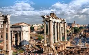 Picture Rome, columns, ruins