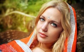 Picture makeup, India portrait, Sari Fantasy