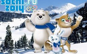 Picture Olympics, Sochi 2014, Sochi 2014, winter Olympic games, mascots