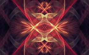 Picture line, glow, fractal pattern