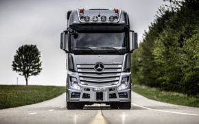 Picture view, cabin, Mercedes, cargo, tractor, Actros