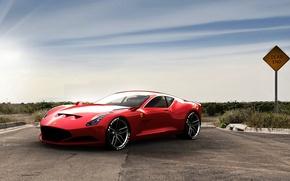 Picture red, Ferrari, 612 GTO Red, sports car