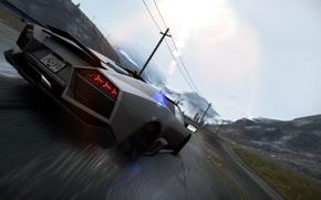 Picture Lamborghini, Reventon, Drift, 2010, Need for Speed, Hot Pursuit