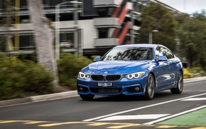 Picture road, blue, BMW, BMW, car, 435i, Sport Package, Gran Coupe M