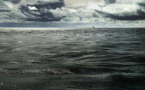 Wallpaper water, the ocean, ship, horizon