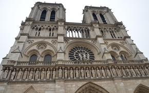 Picture France, Paris, Europe, Cathedral, temple, Paris, architecture, Notre Dame Cathedral, France, Europe, Notre Dame de …