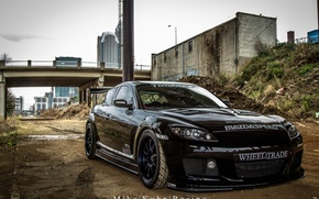 Picture black, mazda, tuning, rx-8