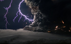 Picture clouds, element, lightning