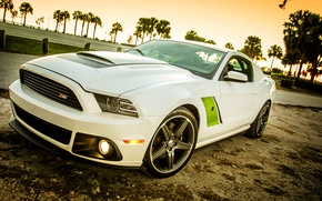 Picture beach, Mustang, Ford, Mustang, Ford, 2009, Roush Stage 3