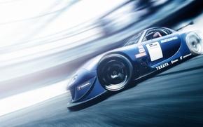 Picture skid, drift, Mazda, Mazda, Gran Turismo, RX7, profile, PlayStation, Gran Turismo 6, GT6