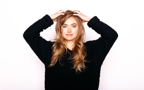 Wallpaper photoshoot, Lola, Imogen Poots, for the film, Imogen Poots, Frank and Lola, Frank &amp