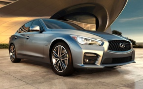 Picture sedan, the building, Q50, emblem, Infiniti