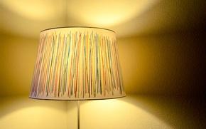 Picture light, lamp, floor lamp, lampshade