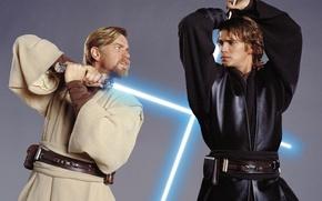 Picture Star wars, the battle, Obi-WAN and Anakin