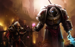 Picture the city, weapons, fire, rose, armor, armor, warhammer, the Inquisitor, space Marines, space marines, 40k, …