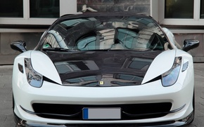 Picture tuning, black and white, Ferrari, front view, Ferrari 458 Italia, Anderson Germany