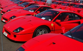 Picture Red, Auto, Machine, Ferrari, Machine, Red, Ferrari, F40, A lot, Supercar, Silverstone, Supercar, Ferrari F40, …
