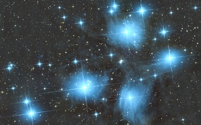 Picture stars, space, M45, Pleiades
