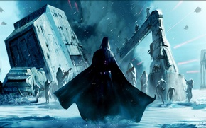 Picture game, art, Darth Vader, art, Electronic Arts, AT-AT, Stormtroopers, DICE, Stormtroopers, Hot, star wars battlefront, …