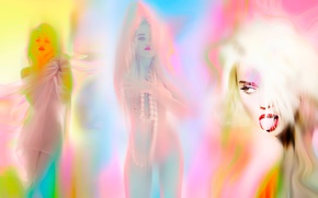 Picture color, line, paint, Sky Ferreira, AnOther