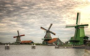 Picture mill, Netherlands, Holland, Zaanse Schans, Zaanstad