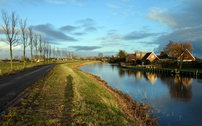 Picture channel, Holland, oudendijk